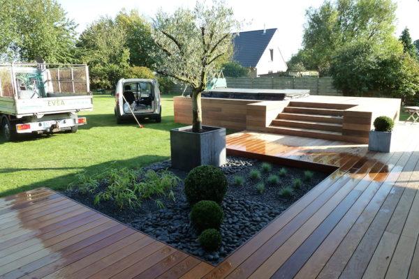 Terrasse contemporaine bois